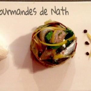 Charlotte de sardines et legumes du soleil