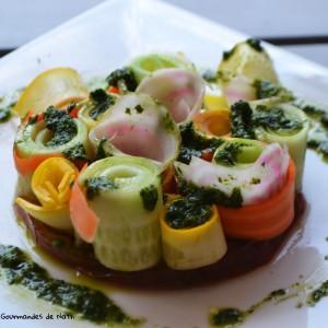 Salade croquante au pistou 2
