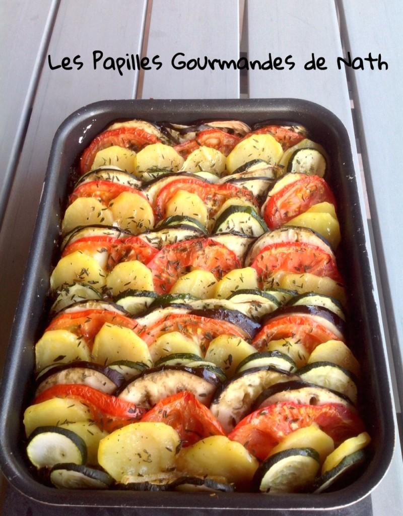 Tian de l gumes sur son lit de caviar d aubergine les for Cuisinier 3 etoiles legumes