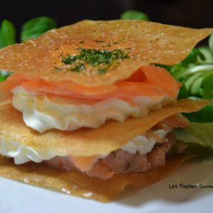 Millefeuille 2 saumons