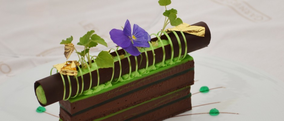 Les Etoiles de Mougins 2016 concours Jeune Pâtissier Dessert Simon Pacary L'Esprit de la Violette Aix-en-Provence