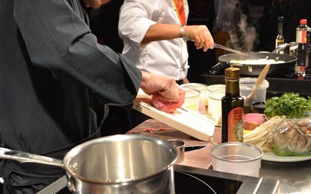 Démo Gastronoma des Chefs Arthur Menahem - Le Mas Candille et Redouane Mansouri - Albert 1er
