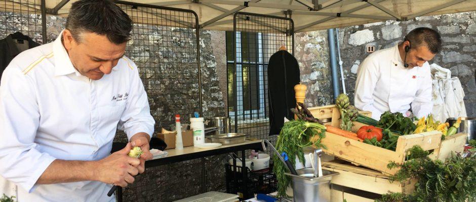 Démonstration Fête du Miel à Mouans-Sartoux des Chefs Franck Cicognola et Laurent Poulet autour du Miel