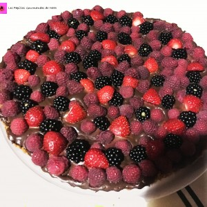 Tarte spéculos chocolat coco fruits rouges