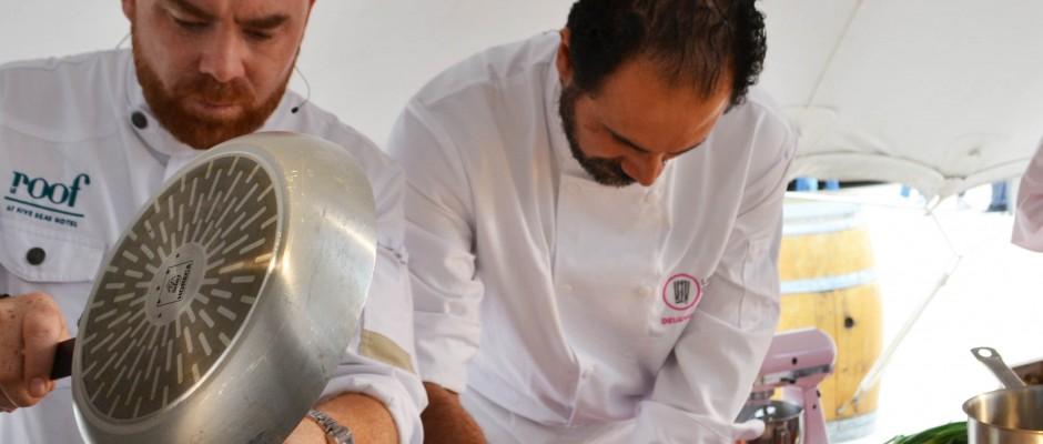 Les Vendanges Etoilées Démonstration des Chefs Fabricio Delgaudio et Arnaud Tabarec
