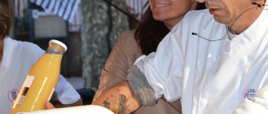 Vendanges Etoilées 2017 Démonstration du Chef Bruno Laffargue Mic Mac Macaron