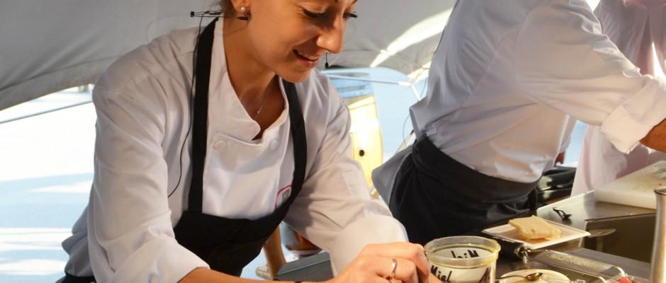 Vendanges Etoilées 2017 Démonstration des Chefs Coline Faulquier et Rédouane Mansouri