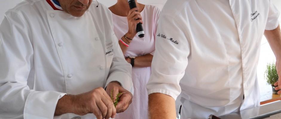 Vendanges Etoilées 2017 Démonstration des Chefs Philippe Joannes et Dimitri Droisneau