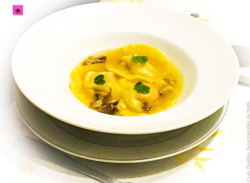 Ravioles Foie Gras Bouillon Thaï